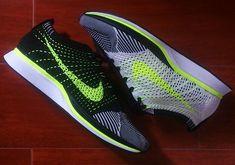 Nike Flyknit Racer - White - Black - Volt