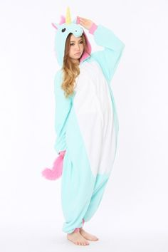 Blue Unicorn Animal Onesie. Pyjama KigurumiPajamas For ... 0ec7f491f