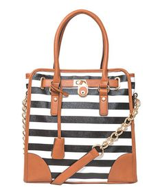 Another great find on #zulily! Elise Hope Black & White Cabana Stripe Tote by Elise Hope #zulilyfinds