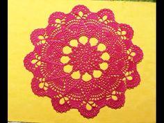"Салфетка крючком ""Звезда""_Часть 1_Doily crochet Star, crochet hook for beginners."