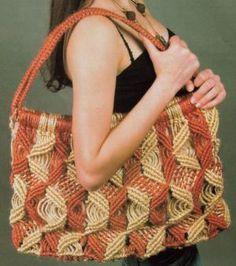 Macramê Dona Brazilian: Bolsa Grande em Macramê (Macrame Shoulder Bag)