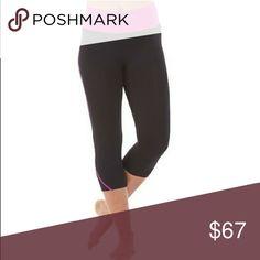 NWT Electric Yoga capris. Black w/ hot pink trim. NWT Electric Yoga capris. Black w/ hot pink trim. XS Electric Yoga Pants Capris