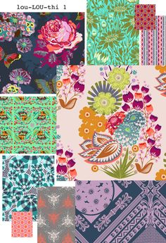 New fabric collection by Anna Maria Horner... my love of fabric is actually a curse.
