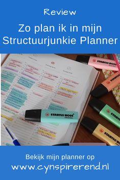 Review: Zo Plan Ik In Mijn StructuurJunkie Planner van Cynthia Schultz Eerlijk is eerlijk: ik ben van nature een behoorlijke chaotische Truus. Ik had vaak het gevoel over te lopen, kwam tijd voor mezelf te kort en vergat van alles. Al een half jaar plan ik volgens de Structuurjunkie methode. Ik heb nu veel meer overzicht, rust én tijd voor mezelf. Hoe? Dat leg ik je vandaag uit in deze uitgebreide review over mijn Structuurjunkie planner. How To Plan, Blog, Blogging