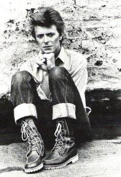 Bowie in his natural habitat - Berlin.
