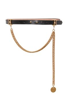 Chain-Trimmed Leather Waist Belt  by GIVENCHY Now Available on Moda Operandi