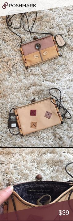 Genuine Leather Purse ✨ + Never used! Unique lining with quote  + Genuine leather  + Beautifully detailed with beads & braided strap ❗️ ⭐️All items are steamed cleaned and shipped within 48 hours of your purchase. ⭐️If you would like any additional photos or have any questions please let me know. ⭐️Sorry, no trades. But will listen to ALL fair offers. Thanks for shopping! Bags Crossbody Bags