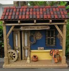 Resultado de imagen para balcones antioqueños miñiatura Diy Arts And Crafts, Wood Crafts, Nativity House, Clay Wall Art, Decorative Gourds, Stucco Homes, Marianne Design, Driftwood Art, Miniature Houses