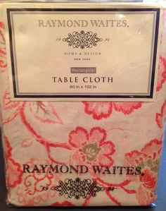 Details About Raymond Waites Tablecloth New Cotton Floral Print Rectangular  60x102 NIP
