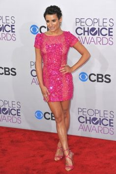 Glee star Lea Michele at the People's Choice Awards 2013 at the Nokia Theatre L.A. Live.