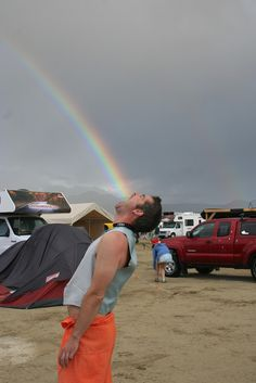 Rainbow in Mouth Forced Perspective Photography