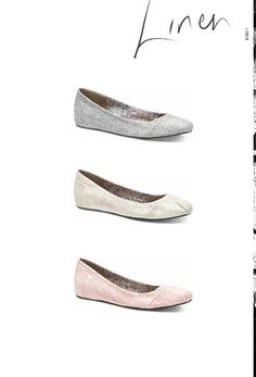 """I also pre-ordered the light rose colored ones!  Super cute new TOMS """"One for One"""" ballet flats"""