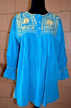 Gorgeous Hand Made and Embroidered Blouse Top by Vtgantiques, $57.50