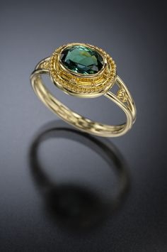 Ct Indicolite Tourmaline Ring Gold - Available Tourmaline Ring, Jewelry Art, 18k Gold, Heart Ring, Jewels, Rings, Silver, Color, Jewerly