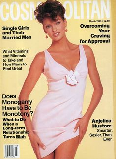 March 1993 cover with Linda Evangelista Linda Evangelista, Francesco Scavullo, Fashion Magazine Cover, Fashion Cover, Magazine Covers, Helen Gurley Brown, Cosmo Girl, Paulina Porizkova, Anjelica Huston