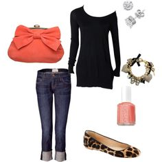 Leopard & Coral Casual
