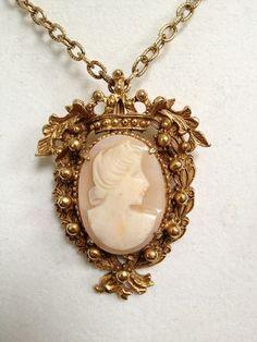antique cameo necklaces