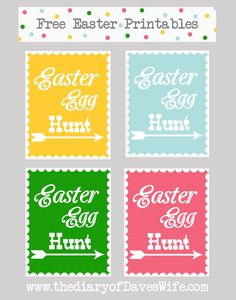 Free Easter Egg Hunt Printable