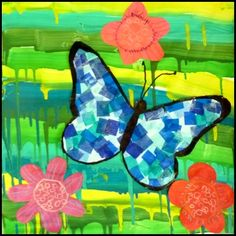 Summer Crafts For Kids, Spring Crafts, Art Lessons For Kids, Art For Kids, Papillon Morpho, Art Club Projects, Bug Art, Bunny Crafts, Butterfly Crafts