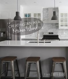 Creating an IKEA Kitchen Island | Pink Little Notebook:                                                                                                                                                                                 More