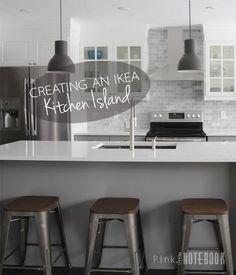 Creating an IKEA Kitchen Island | Pink Little Notebook: