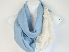 Boho Lace Infinity Scarf Spring scarves Lace by myfashioncreations, $22.00
