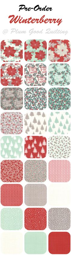 Winterberry Christmas Fabric by Kate & Birdie..Pre-Order Yours now!