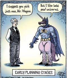 But I like bats and unicorns…