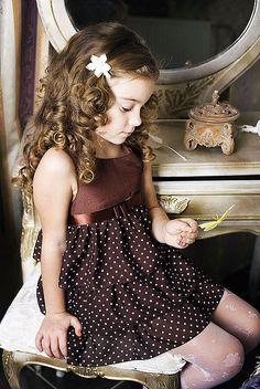 """Праздничное платье для девочки """"Шоколад"""" / Festive dress for girls """"Chocolate""""…"""