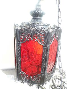 Vintage Hanging Lamp Gothic Decor Vintage by PaperWoodVintage, $145.00