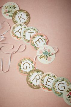 garland with a bunch of letters to make your own message - $17 bhldn