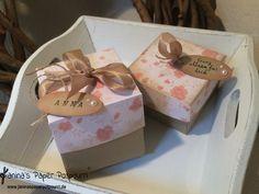 Vintage Rose Hochzeits Gastgeschenke / Goodies / give aways / wedding gifts / treats / Stampin' Up! / I love lace /Drehstempel Alphabet www.janinaspaperpotpourri.de