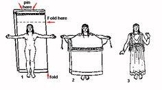 Greek Dress- great website that decribes 2 fifferent ways to make ancient greek dress.