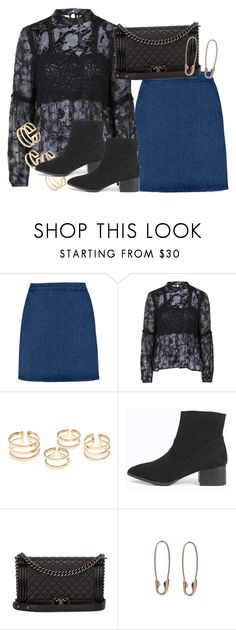 """""""Untitled #2269"""" by erinforde ❤ liked on Polyvore featuring Topshop, Boohoo, Chanel, Loren Stewart, women's clothing, women's fashion, women, female, woman and misses"""