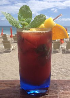 @Four Seasons Resort Palm Beach honors Florida's bounty with this 100-Mile cocktail, created using only ingredients sourced within a 100-mile radius of our Resort. Using Florida mangoes infused with 4 Orange Vodka, the cocktail has a distinct South Florida flavor, especially when mixed with fresh hibiscus tea, Florida cane sugar and fresh mint.