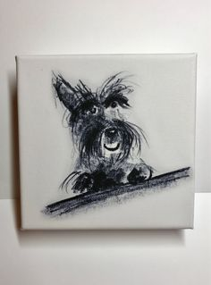 A personal favourite from my Etsy shop https://www.etsy.com/uk/listing/553938601/scottie-dog-fine-art-canvas-print-happy