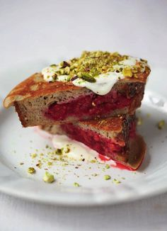 Berry pocket eggy bread with pistachios, yoghurt, honey and cinnamon   Everyday Super Food by Jamie Oliver