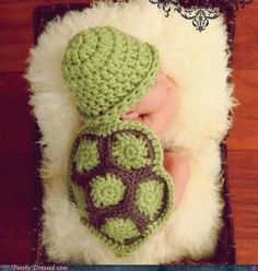 113720726a8 Sweet little baby turtle!  ) Crochet or knitted baby turtle shell .