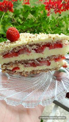 Evo jedne fine tortice s jagodama. Recept je prepisan iz jednog časopisa.torta dora