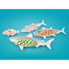 Fred & Friends Fish Food nesting dishes.