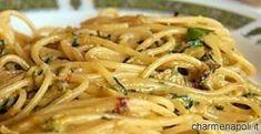 Maria Grazia Courgette Pasta (Spaghetti with Zucchini in the style of Nerano) Italian Pasta Recipes, Yummy Pasta Recipes, Wine Recipes, Italian Foods, Vegan Pasta Sauce, La Trattoria, Fairy Food, World Recipes, Pasta Dishes