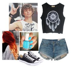 """""""Being With Ashton Irwin"""" by zeniboo ❤ liked on Polyvore featuring rag & bone, Converse and Essie"""