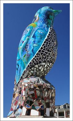 At the Museum of Visionary Art, Baltimore.... #bird #mosaic