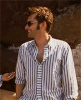 (Gif) David Tennant, and his laughter. hehe <3 <3