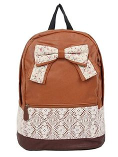 West Beauty Causal Lightweight Canvas Cute Backpacks Notebook ...