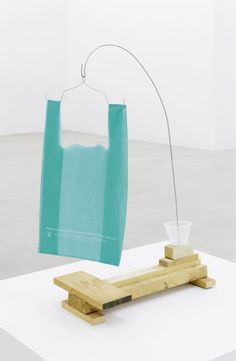 B. Wurtz, Untitled 2013, Wood, wire, plastic cup, plastic bag, 79 × 26 × 48 cm