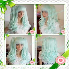 11-style-anime-LOLITA-Cosplay-Fashion-Long-crimp-wig-Clip-ponytail