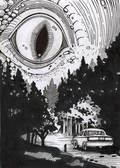 random stuff i want & random stuff - random stuff to draw - random stuff to buy - random stuff funny - random stuff i want - random stuff aesthetic - random stuff to do - random stuff weird Arte Horror, Horror Art, Art Inspo, Art Sketches, Art Drawings, Art Noir, Art Et Illustration, Illustrations, Psychedelic Art
