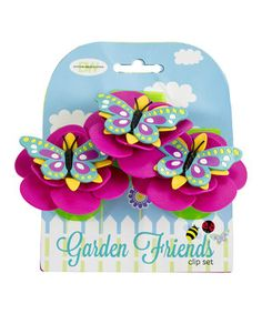 This Butterfly Garden Friends Clip - Set of Three by Boston Warehouse is perfect! #zulilyfinds