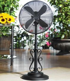 Don't worry about the heat with this weather-resistant fan. Elegantly designed with an antique style, this fan will complement your outdoor area nicely while keeping you cool. Click to see more patio cooling options.